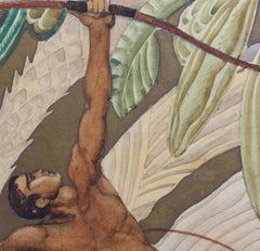 'The Archer' Art Deco Style Painting by Jean-Frédéric Canepa (circa 1930s)