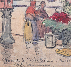 'Flower Seller, Place de la Madeleine - Paris 1890s' (circa 1910 - 1920)