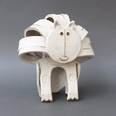 Ceramic Lion Sculpture by Bruno Gambone (Circa 1970s)