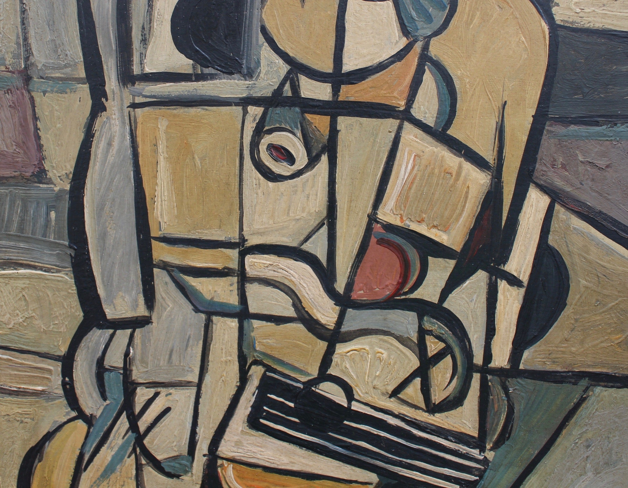 'The Guitarist', by J.G. (circa 1940s - 1960s)