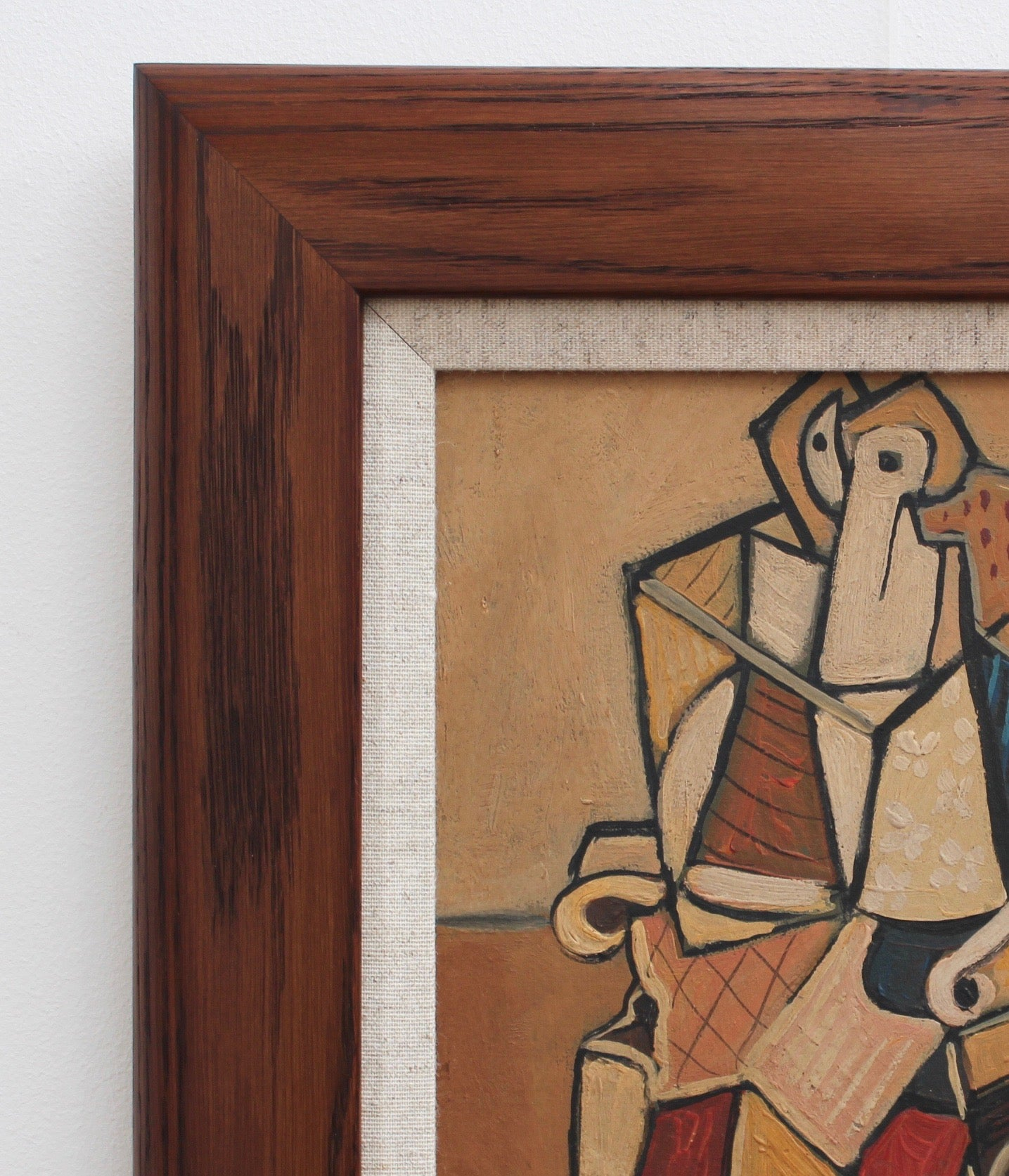 'Seated Abstract Figure' by J.G. (circa 1940s - 1960s)