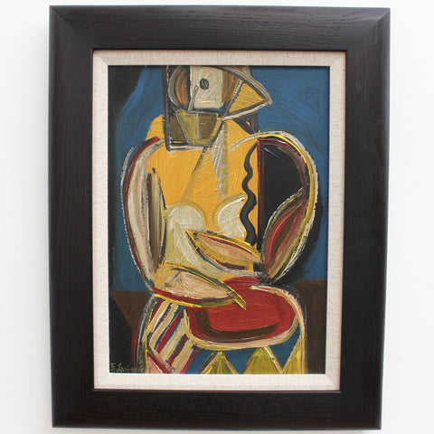 'Woman in Abstract' by F. Larinor (circa 1940s - 1960s)