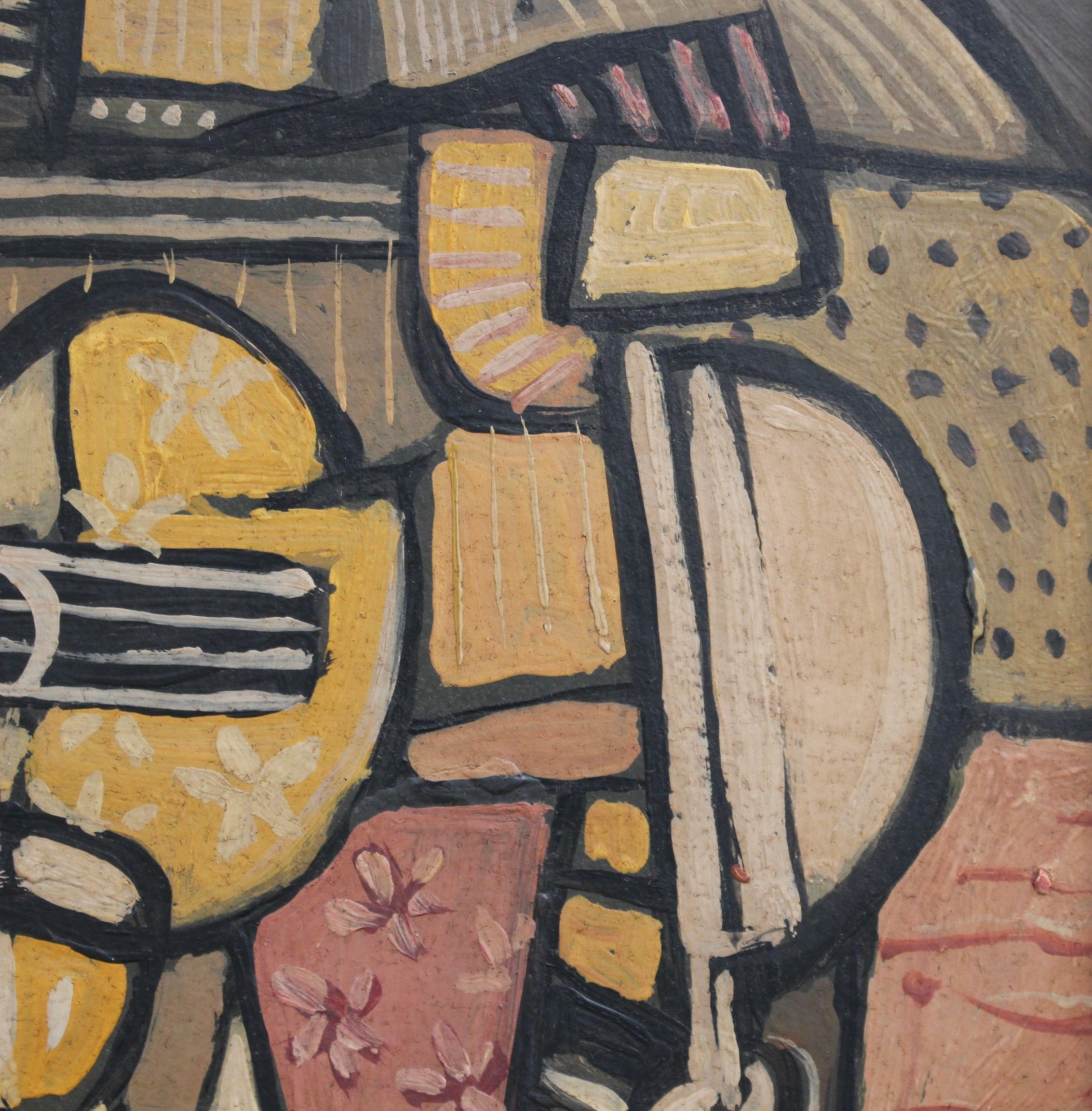 'Still Life with Guitar and Wine Glass' by J.G. (circa 1940s - 1960s)