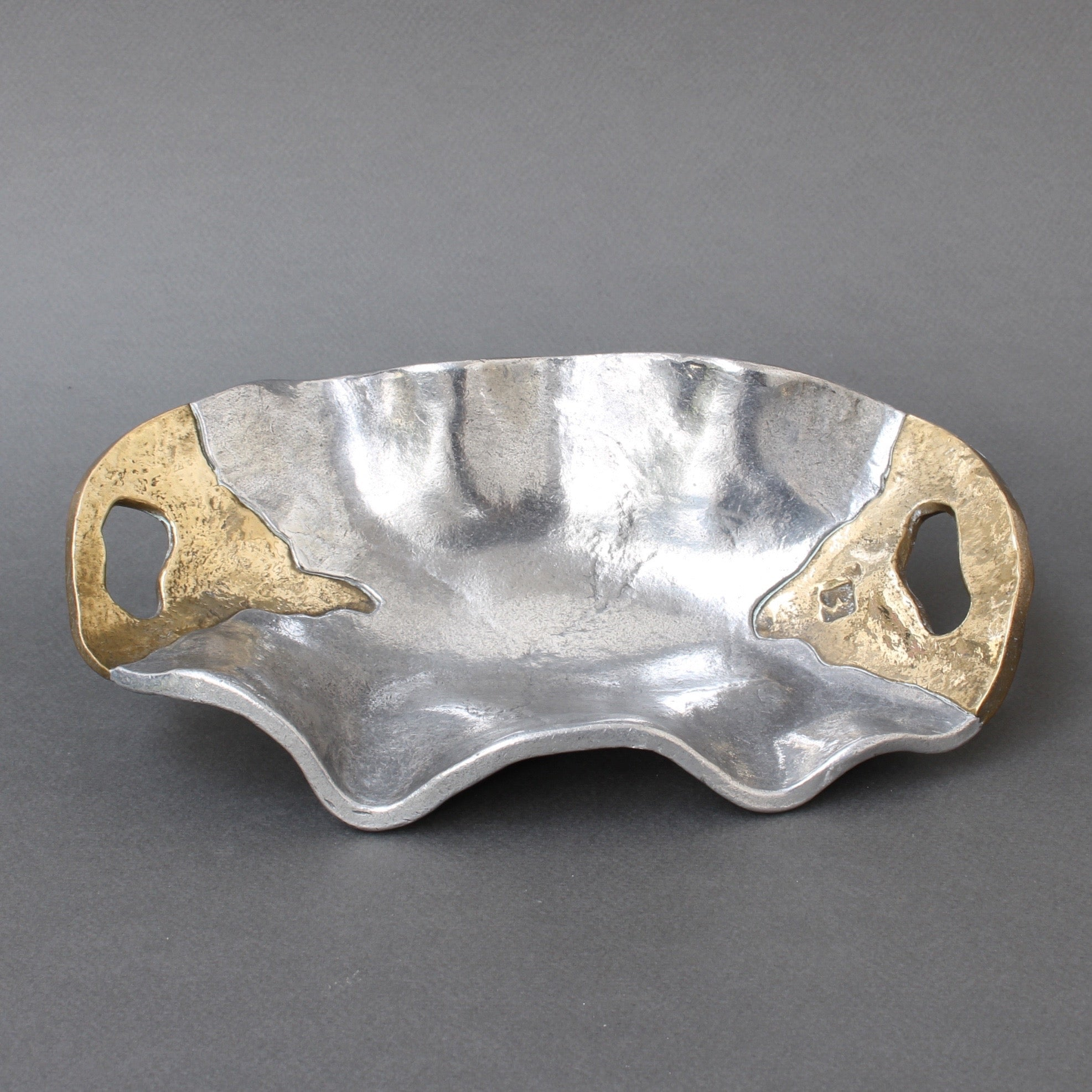 Aluminium and Brass Brutalist Style Tray (Circa 1970s)