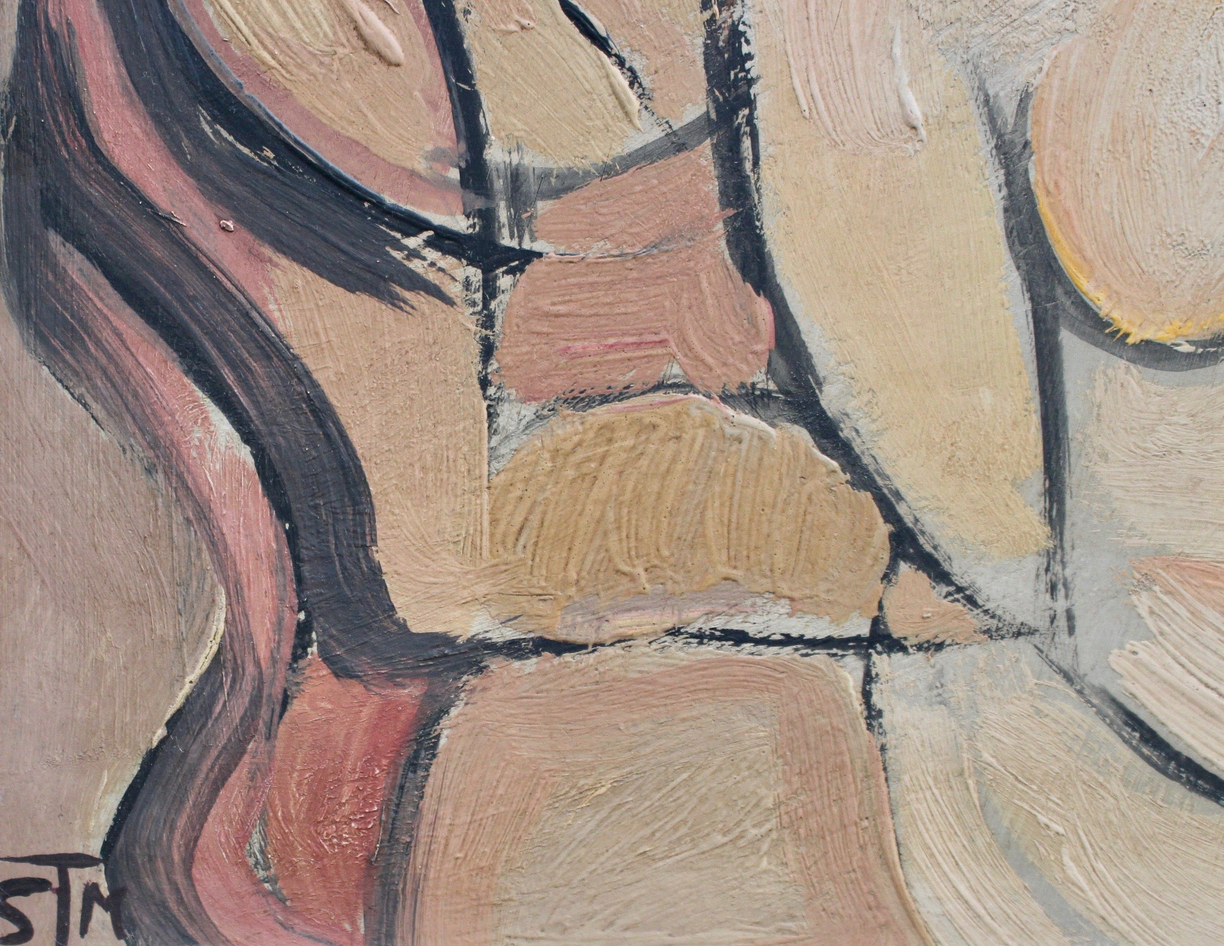 'Portrait of Seated Nudes' by STM (circa 1940s - 1960s)