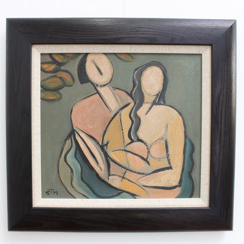 'Portrait of Natural Man and Woman' by STM (circa 1940s - 1960s)