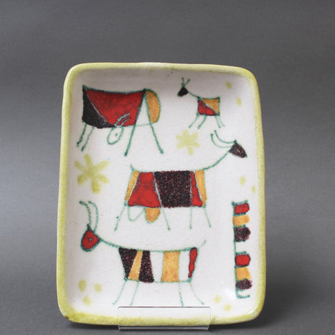 Decorative Italian Ceramic Tray / Dish by Guido Gambone (circa 1950s)