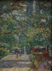 'Strollers on Verdant Path' by Sanza (c. 1890s)
