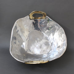 Aluminium and Brass Brutalist Style Bowl by David Marshall (Circa 1970s)