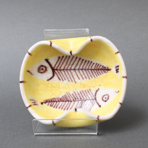 Decorative Italian Ceramic Vide-Poche by Guido Gambone (circa 1950s)