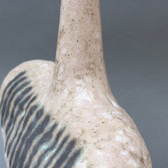 Italian Ceramic Bottle-Shaped Vase by Bruno Gambone (circa 1980s)