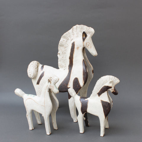 Trio of Ceramic Horses by Bruno Gambone (Circa 1970s)