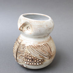 Glazed Ceramic Stylised Owl Vase by Jacques Pouchain (circa 1960s)