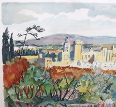 'View of Avignon' by Yves Brayer (circa 1960s)