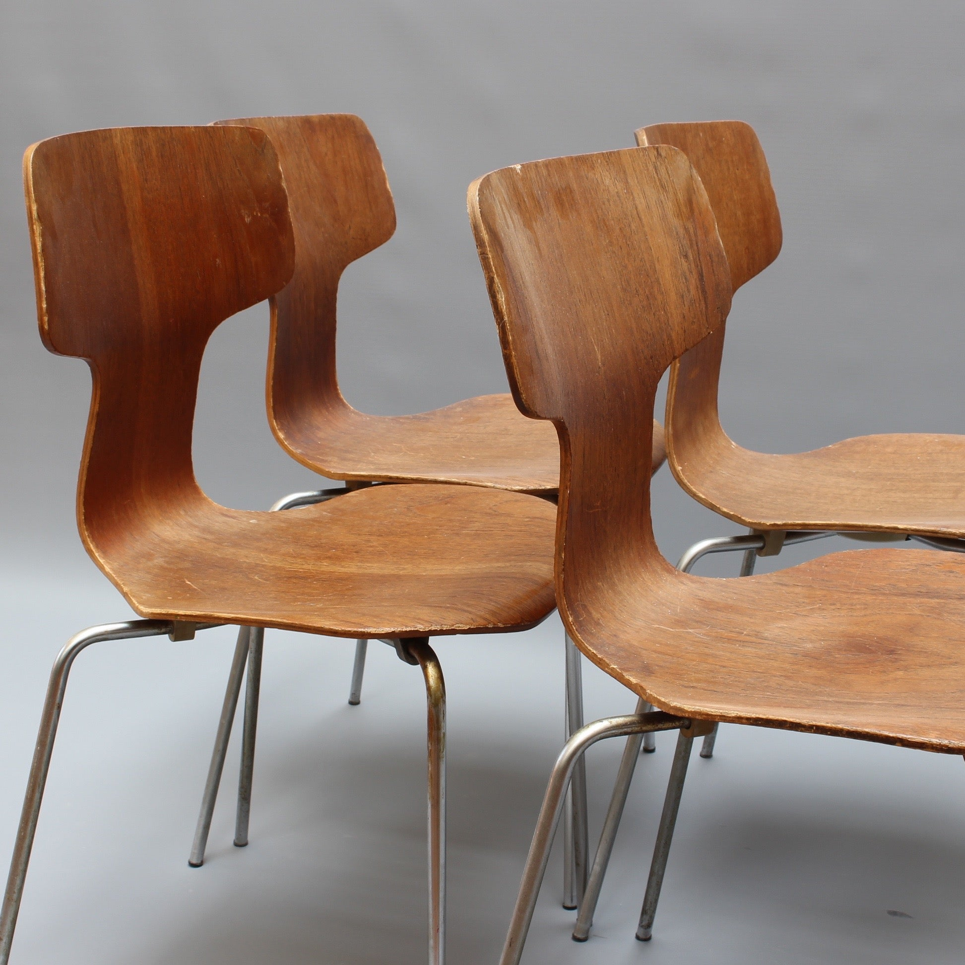 Set of Four Type 3103 Chairs by Arne Jacobsen for Fritz Hansen (1969)