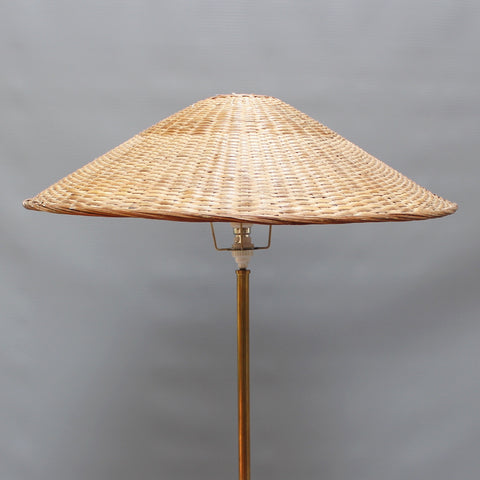 Italian Wood and Metal Floor Lamp (Circa 1960s)