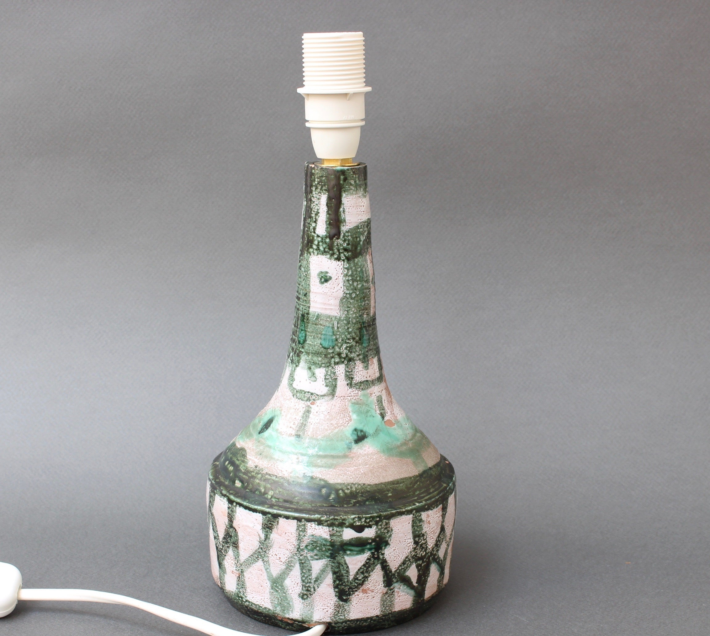 Mid-Century French Ceramic Table Lamp (circa 1960s)