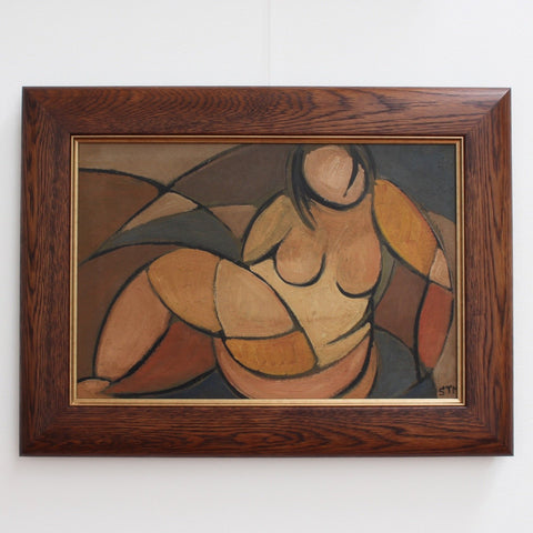 'Portrait of Reclining Woman' by STM (Circa 1950s)