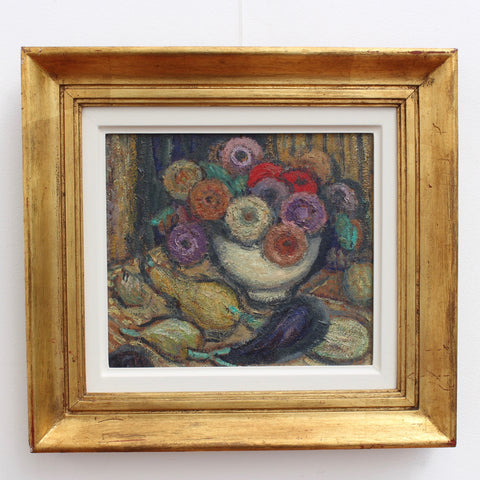 'Still Life with Fruit and Flowers' by Juliette Roche-Gleizes (circa 1930s)