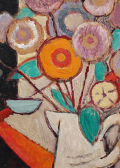 'Still Life - White Jug with Flowers' by Juliette Roche-Gleizes (circa 1930s)