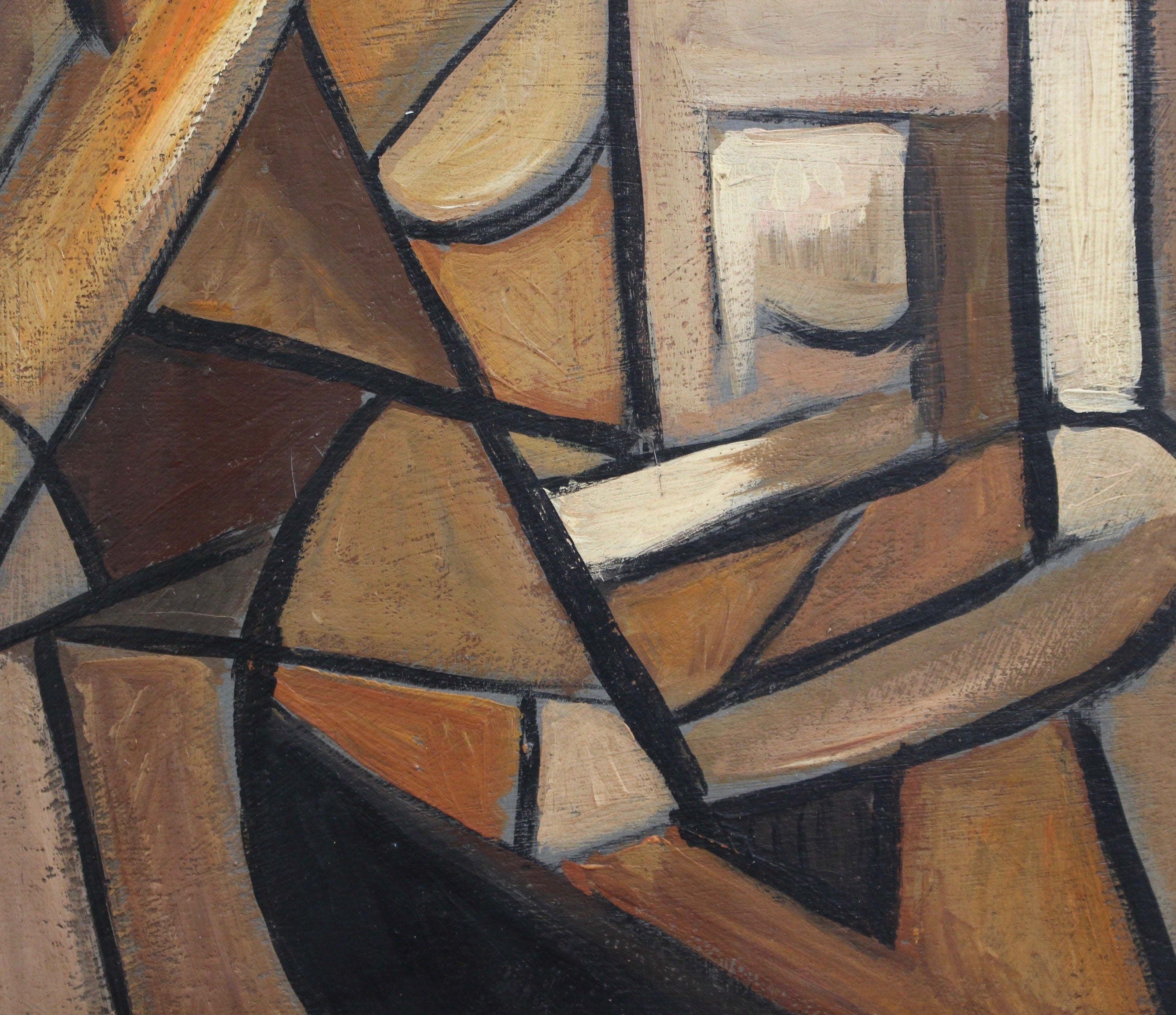 'Abstract Nude in Mahogany' by P. Charon, French School (circa 1950s-60s)