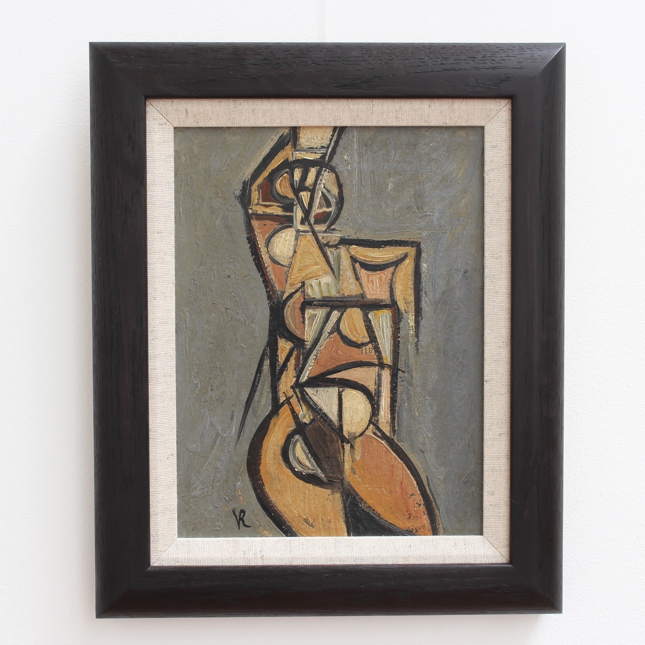 'Portrait of a Posing Nude' by V.R. (Circa 1940s - 1950s)