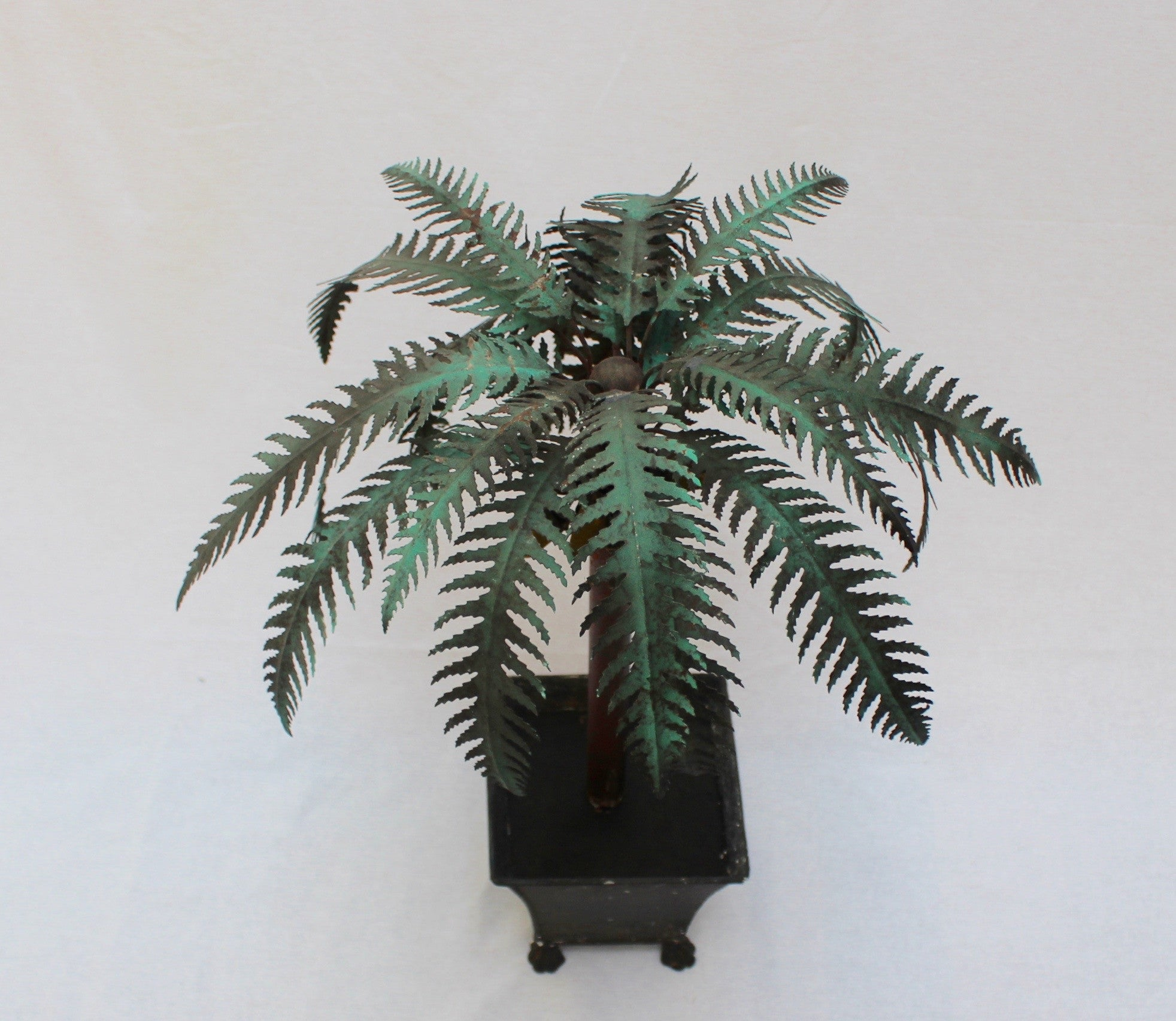 Pair of Painted Tin Palm Tree Ornaments (c. 1970s)