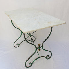 French Bistro Table with Marble Top (c. 1890s)