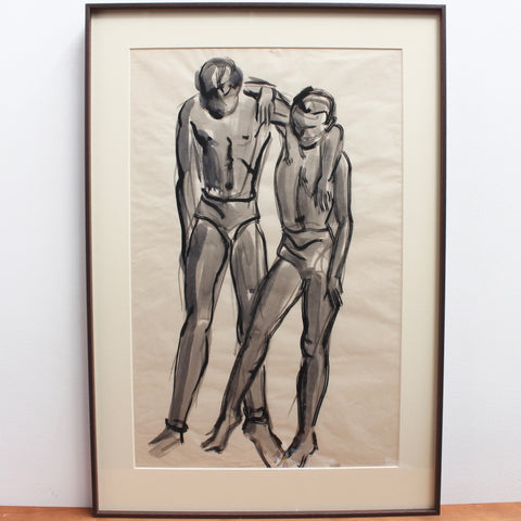 'The Dancers' Triptych Attributed to Roger Mouly, French School (circa 1950s - 60s)