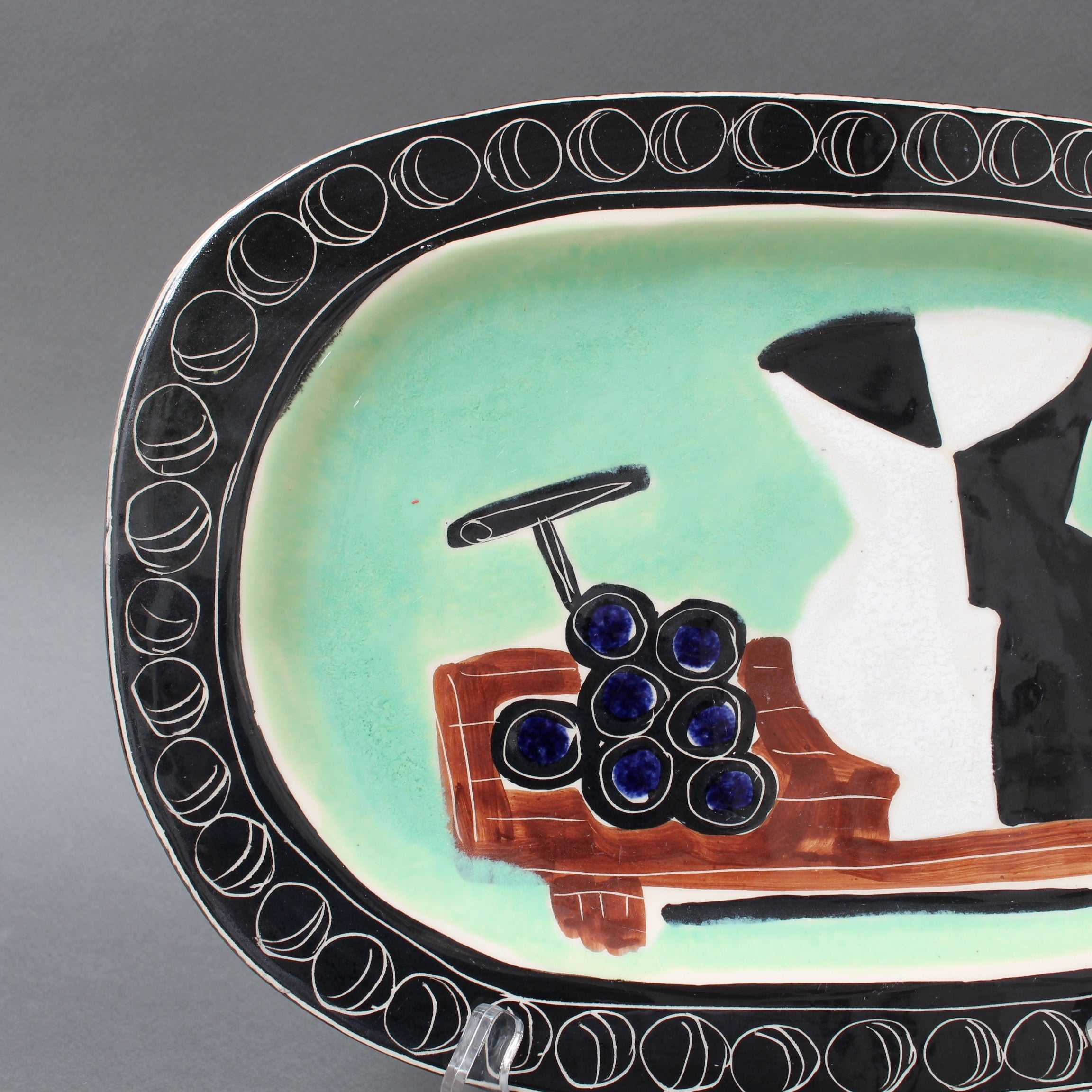 Poet-Laval Decorative Ceramic Platter by Jacques Pouchain (Circa 1950s)
