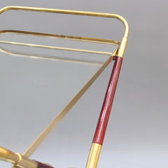 Vintage Italian Serving Trolley / Bar Cart by Cesare Lacca (circa 1950s)