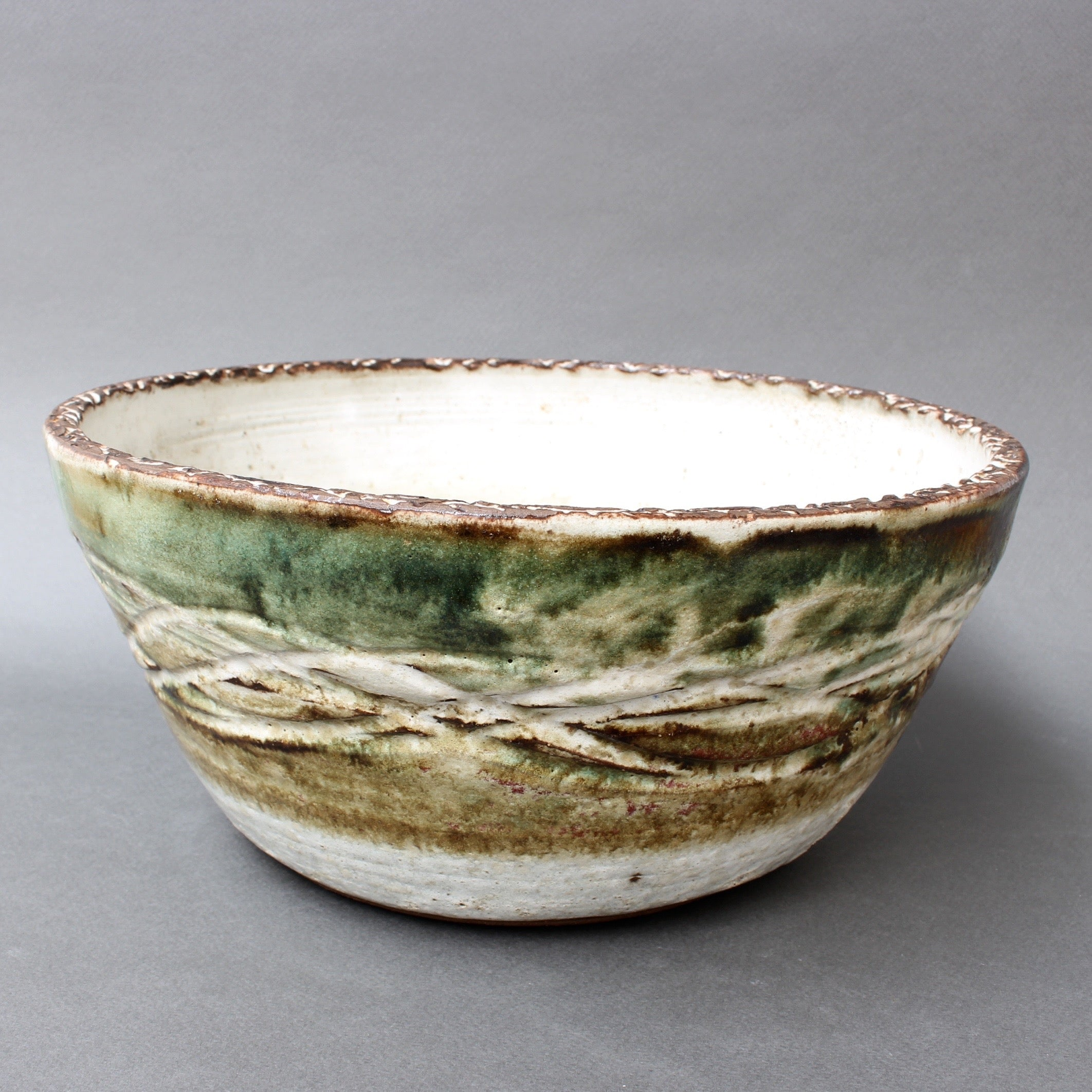 Mid-Century French Decorative Ceramic Bowl by Albert Thiry (Circa 1960s)
