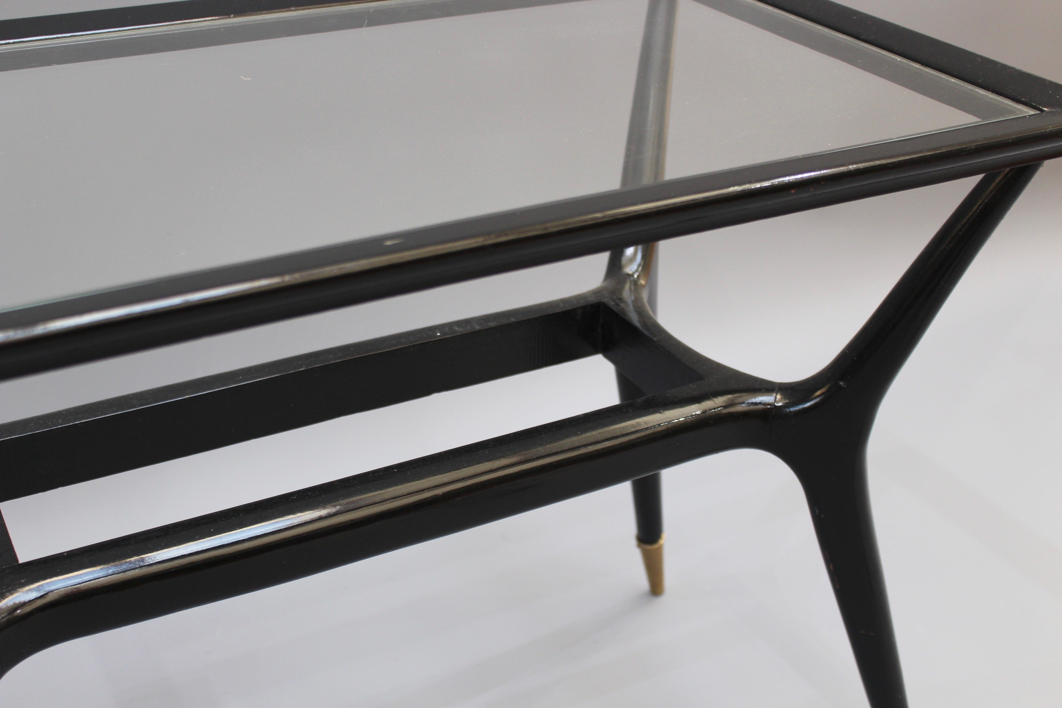 Black Lacquered Coffee / Side Table Attributed to Ico Parisi (circa 1950s)