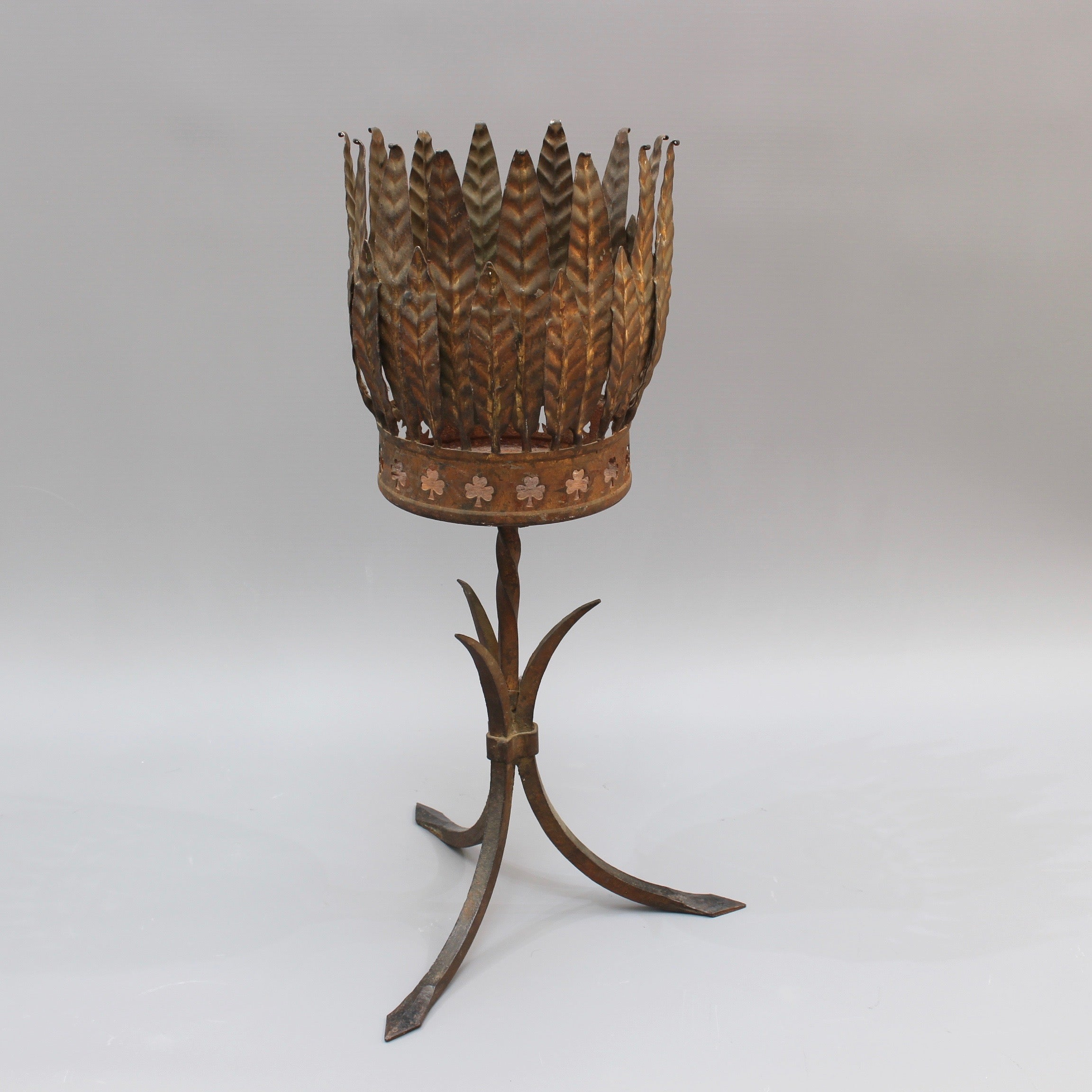 Spanish Gilt Metal Plant Stand (c. 1950s)