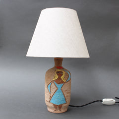 Mid-Century Italian Ceramic Table Lamp by Fratelli Fanciullacci  (Circa 1950s)