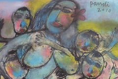'Mother with Children' by Pandi (I Nyoman Sutaria) (2010)