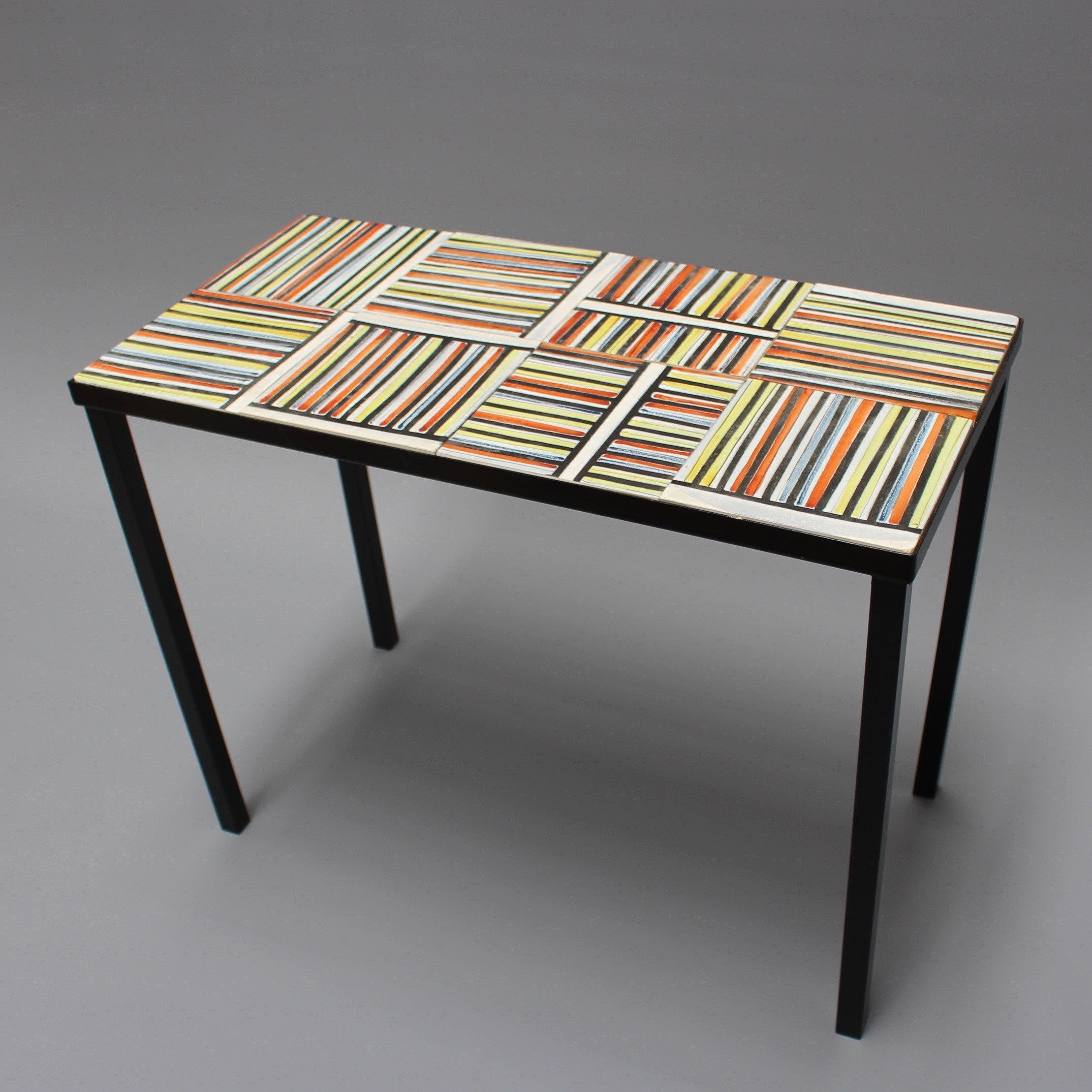 Coffee Table With 'Pyjama' Ceramic Tiles by Roger Capron (c. 1950s)