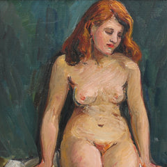 'Portrait of Nude Redhead' by Louise-Jeanne Cottard-Fossey (Circa 1940s)