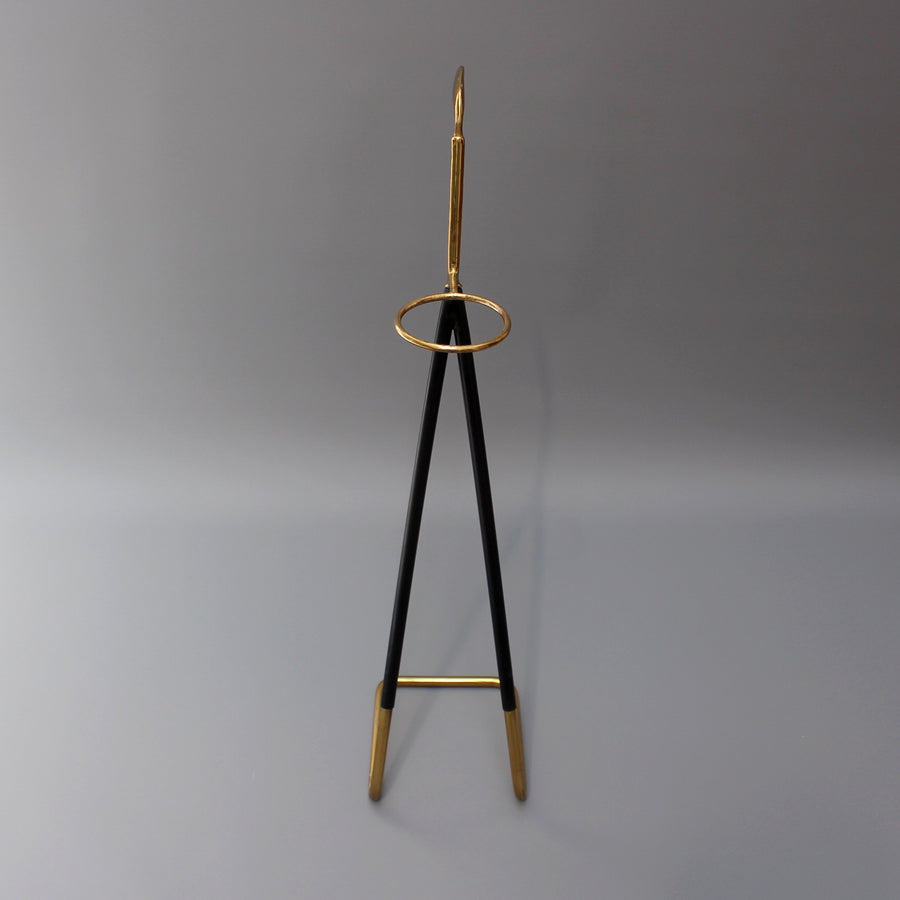 Mid-Century Brass Golf Club-Shaped Walking Stick Stand (c. 1950s)