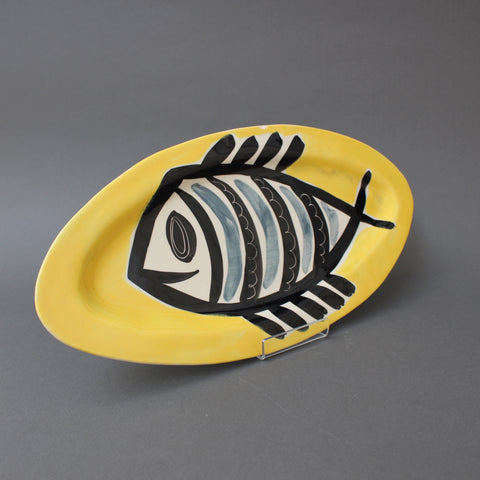 Ceramic Decorative Platter with Fish Motif by Jacques Pouchain (circa 1960s)