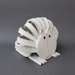 Ceramic Resting Cat Sculpture by Bruno Gambone (circa 1970s)