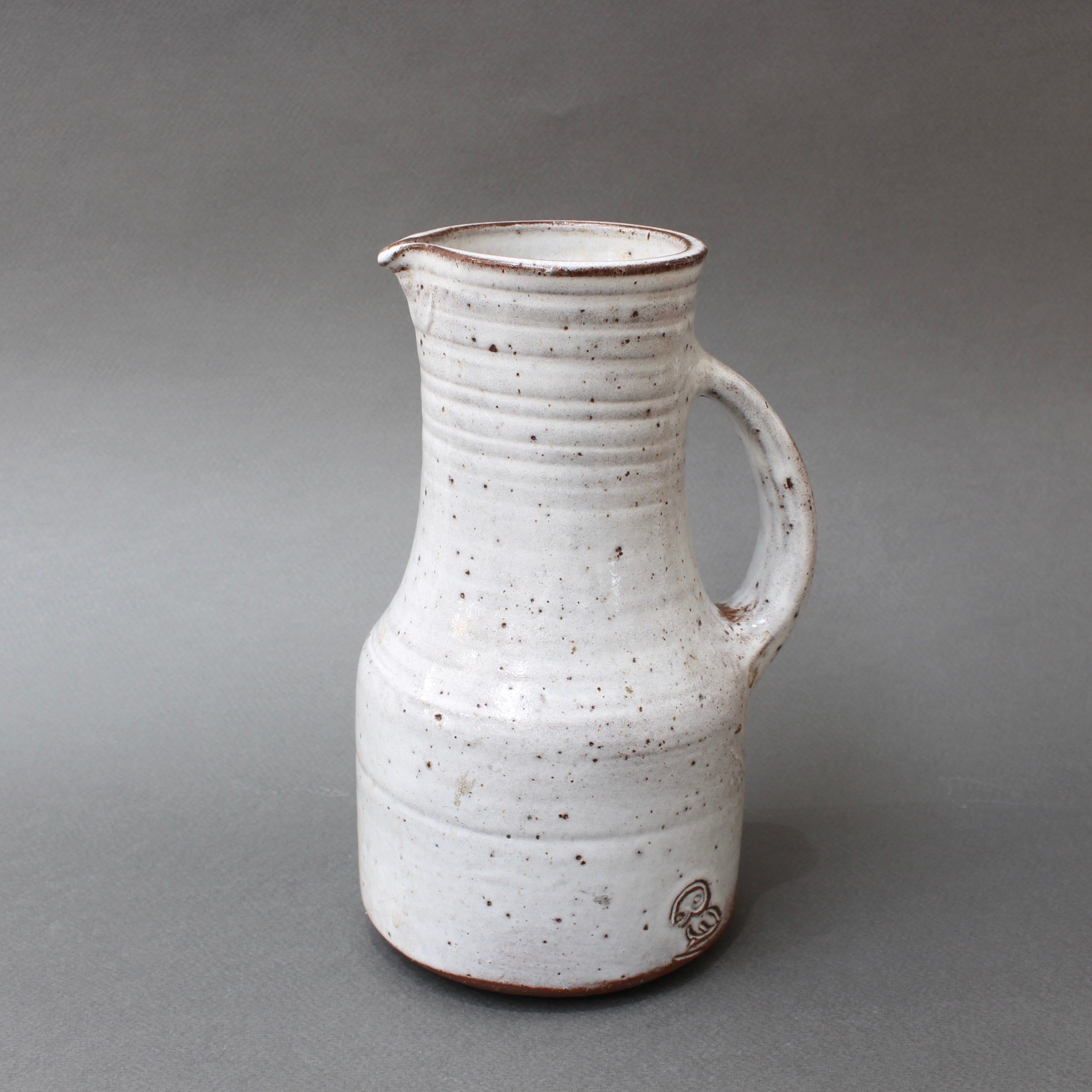 Mid-Century French Ceramic Pitcher by Pierlot (circa 1960s)