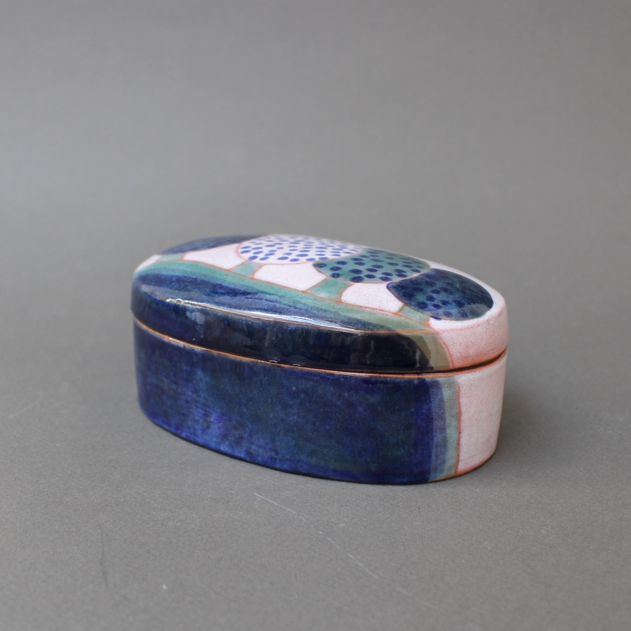 Ceramic Decorative Box by Frères Cloutier (circa 1970s)