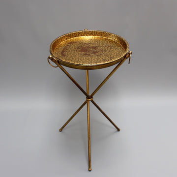 Mid-Century Italian Side-Stand with Removable Serving Tray (c. 1950s)