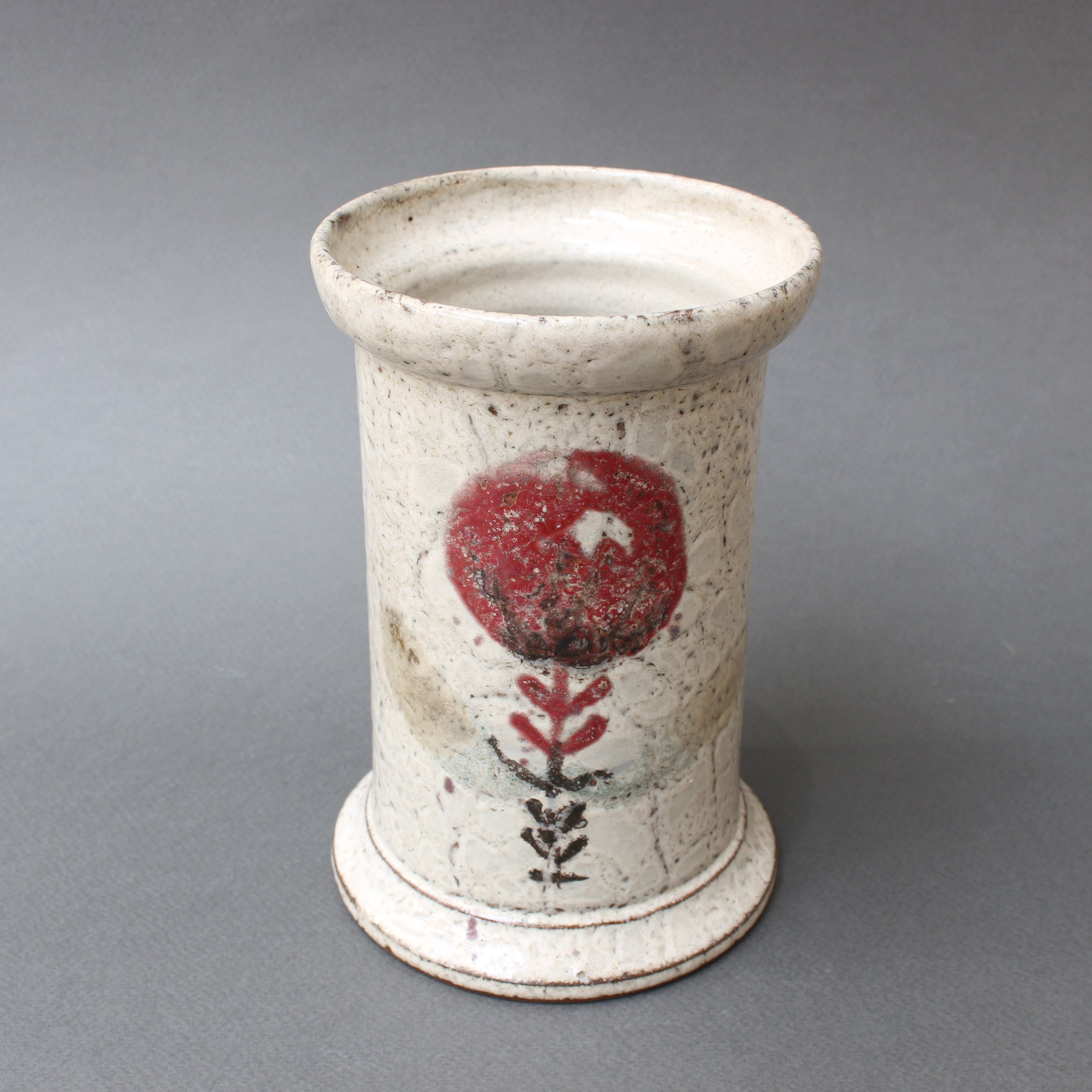 Mid-Century French Ceramic Jar by Gustave Reynaud, Le Mûrier (Circa 1950s)