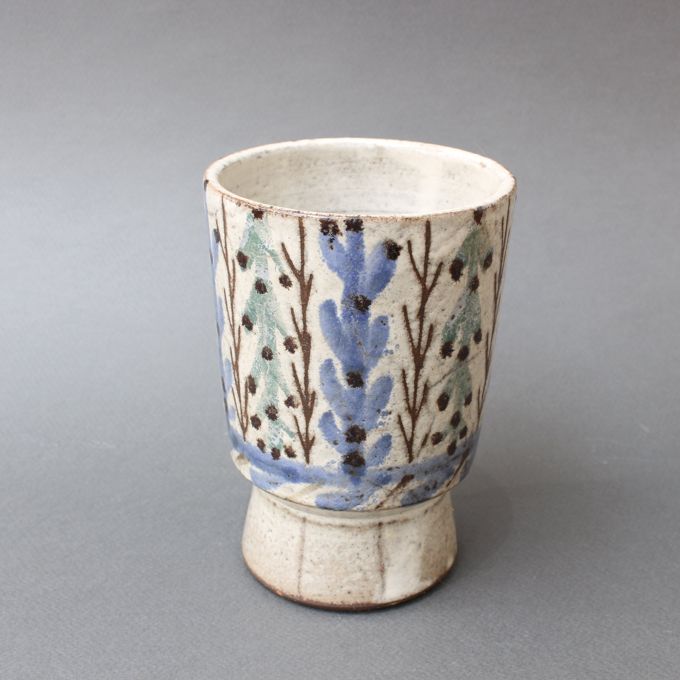 Vintage French Ceramic Vase by Gustave Reynaud, Le Mûrier (circa 1950s)