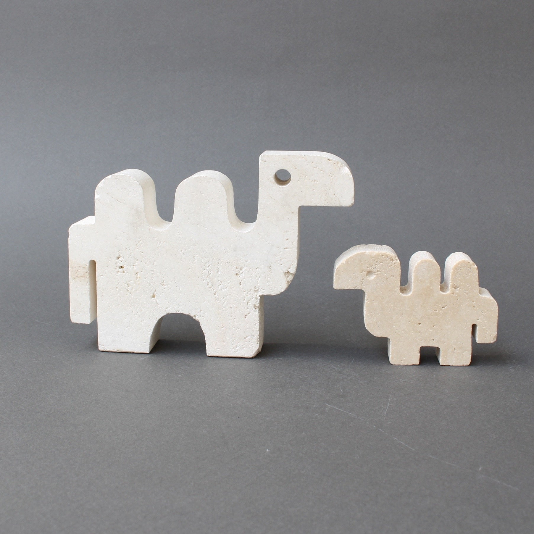 Set of Four Travertine Animals by Fratelli Mannelli (circa 1970s)