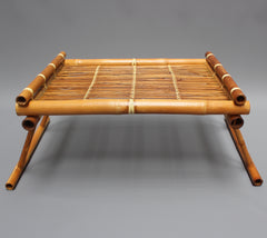 Vintage Dutch Bamboo Bed Serving Tray