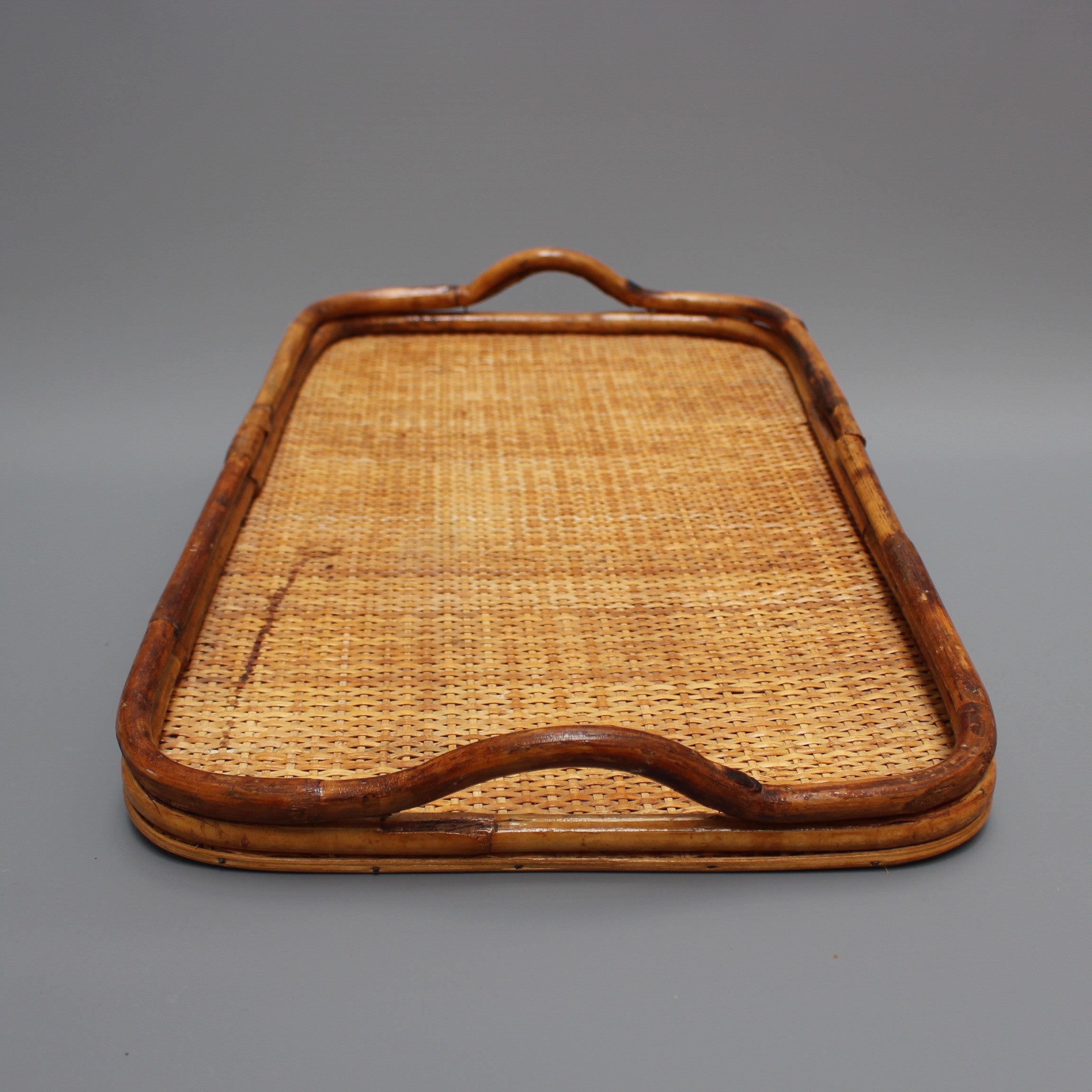 Vintage Dutch Wicker Serving Tray