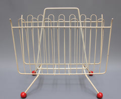 Wire Frame Atomic Magazine Rack (c. 1950s)
